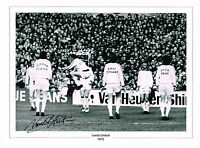 LARGE NORMAN HUNTER HAND SIGNED PHOTO PRINT LEEDS UNITED COA AUTOGRAPH TRACKSUIT
