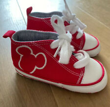 Next Mickey Mouse Mini Disney Baby Trainers Size 2 6-12 Months. NEW. Red.