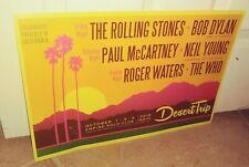 New listing Rare DESERT TRIP 2016 Poster 12X18 ROLLING STONES; BOB DYLAN Paul McCartney WHO