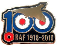 RAF 100 YEARS 1918 - 2018 REMEMBRANCE AVRO VULCAN BOMBER PIN BADGE