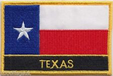 Texas State USA Flag Embroidered Patch Badge - Sew or Iron on