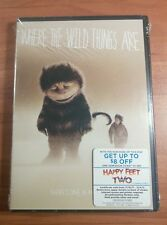 (Factory Sealed)Where the Wild Things Are (DVD, 2010) - cut on barcode