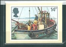 GB - PHQ CARDS -1981 - FISHING INDUSTRY - BACK - FDI/SHS - COMP. SET USED