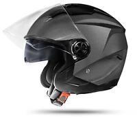 LA Street Jet Helm Grau L mit Doppelvisier DVS ECE Motorradhelm Anthrazit Silber