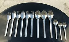 VINTAGE GEORG JENSEN TUJA TANAQUIL STAINLESS FLATWARE MIXED LOT SPOONS FORKS MCM