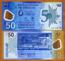 Uruguay, 50 Pesos Uruguayos, 2017 (2018), P-New, UNC > Commemorative Polymer