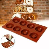 1* Donut Mould Muffin Cupcake NonStick Doughnut Mold Baking Silicone Waffle A1F5