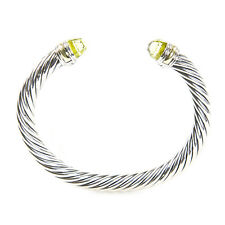 DAVID YURMAN Cable Classic Bracelet with Lemon Citrine & 14K Gold 7mm $695 NEW
