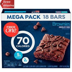 Fiber One 70 Calorie Chocolate Fudge Brownie Mega Pack 18 Bars 16 oz BESR PRICE