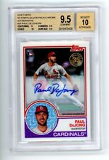 Paul DeJong 2018 Topps silver pack auto, autograph BGS 9.5, Auto 10, with 10 SUB