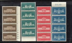 WEST GERMANY 1970 MUNICH OLYMPICS SET - SG1524-1527 UNMOUNTED MINT STRIPS OF 4