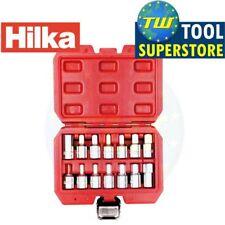 Hilka 14pc 3/8in Enchufe de relleno de Drenaje Cárter De Aceite Juego De Zócalos de clave de Freno Herramienta de eje de coche