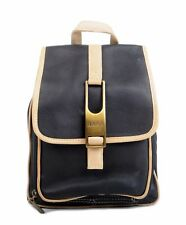 Women's Chic Casual Genuine Leather Small Buckle and Strap Backpack (B017)