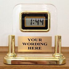 CUSTOM DESK CLOCK - FREE WORDING