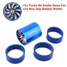 Supercharger Power Air Intake Turbonator Turbine Gas Fuel Saver Turbo + 3 Holder