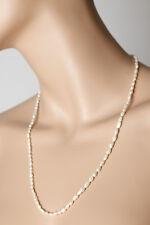 Bisutería Fina Blanco Brillante Collar, ca 60 cm (100953)