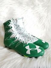 Under Armour UA Football Cleats size 12 1269693-313 clutch fit green white
