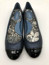 Softwalk 9N S1308-430 Slip On Dress Comfort Flat Blue Shoes.