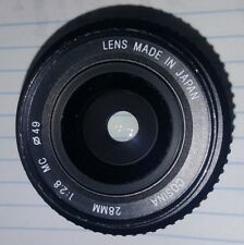 Cosina 28mm f2.8 MC Pentax K-Mount Manual Focus 49mm Lens 1:2.8 for Nikon Japan