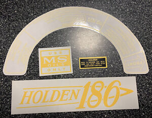 Holden 186 Tapperet Cover And Air Cleaner Decal