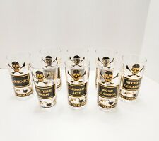 8 Georges Briard Mid Century Name Your Poison Highball Glasses