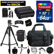 64GB ACCESSORIES Kit for Nikon D810a, D810, D610, D800, D600, D7000, 1 V1