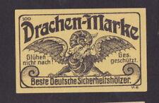 Ancienne étiquette allumettes Allemagne BN47515 Dragon