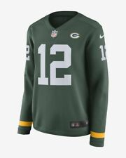 Nike Women's NFL Aaron Rodgers #12 Green Bay Packers Long Sleeve Jersey (M)
