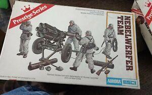 Three Aurora/Esci 1/35 Scale Plastic Kits, German & British WWII Soldiers