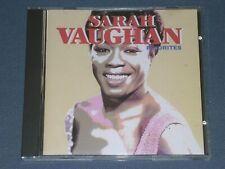 SARAH VAUGHAN - FAVORITES CD! 10 TRACKS!