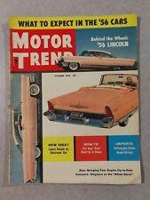 Motor Trend Magazine October 1955 Arnolt-Bristol  1956 Lincoln  Volkswagen Coupe