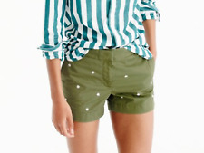 "J.Crew Embroidered 4"" Chino Chort in Dried Thyme , NWT, sz.8 , Great Buy"