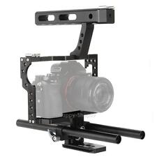 15mm Camera Video Stabilizer DSLR Cage Rig + Top Handle Grip for Sony A7 A7R A7S
