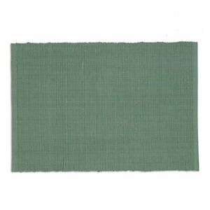 PATINA GREEN Cotton Ribbed Weave Placemat