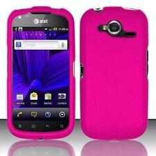 Hard Rubberized Case for Pantech Burst P9070 - Pink