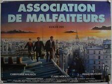 Affiche Cinéma ASSOCIATION DE MALFAITEURS 1987 ZIDI Malavoy Nebout Cluzet 60x80