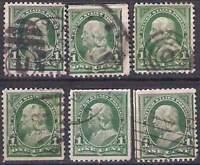 United States Postage, Franklin, 1 Cent C / D gestempelt (III)