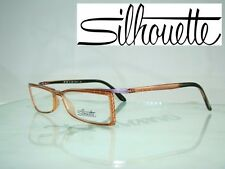 Silhouette 2840 6055 LIGHT WEIGHT Crystal Brown Reading Glasses Frames Size 54