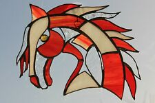 Stained Glass Horse Head Suncatcher