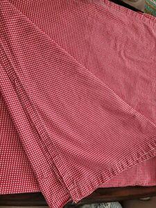 Vintage Ralph Lauren Red White Gingham Wendy Queen Flat Sheet