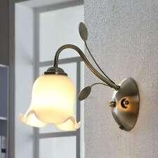Wandleuchte Matea Floral Wandlampe Zugschalter Klassisch Glasschirm Lampenwelt