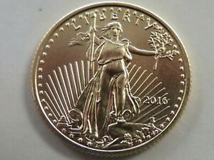 2016 American Gold Eagle $5 1/10 ounce gold