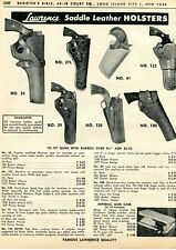 1962 Print Ad of Lawrence Saddle Leather Revolver Holsters