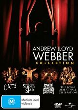 Andrew Lloyd Webber Collection DVD NEW CATS+JESUS CHRIST+JOSEPH+ROYAL ALBERT R4