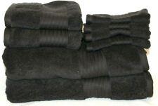 Ralph Lauren Greenwich Solid Black Eight Piece Bathroom Towel Set New