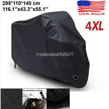 XXXXL Black Motorcycle Waterproof Cover for Harley Davidson Street Glide Touring