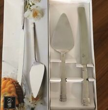 wedding cake knife and server set Mikasa