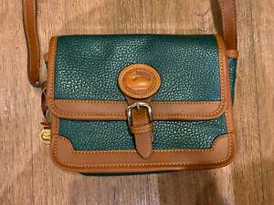 All Weather Leather Vintage Dooney & Bourke Equestrian Shoulder Bag