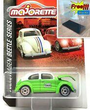 Majorette Volkswagen Beetle Green Taxi Vintage Car 1/64 241A Free Display Box