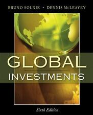 Global Investments by C. F. A. Staff, Dennis McLeavey and Bruno Solnik (2008,...